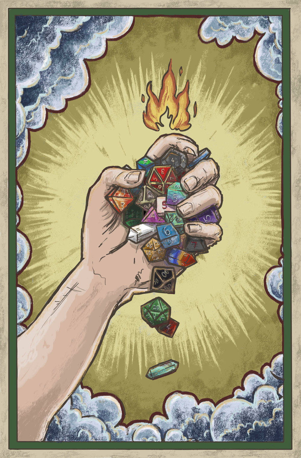 Dice Blessing Card