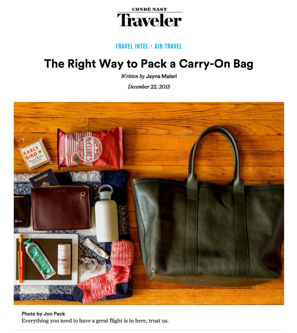 Condé Nast Traveler - The Right Way to Pack a Carry-on Bag