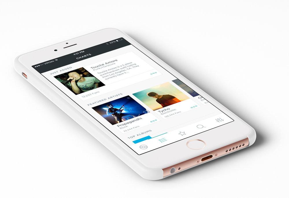 Loud App's Artist Profile Page - UI & UX Mockup