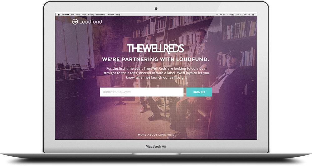 Artist List-builder Landing Page