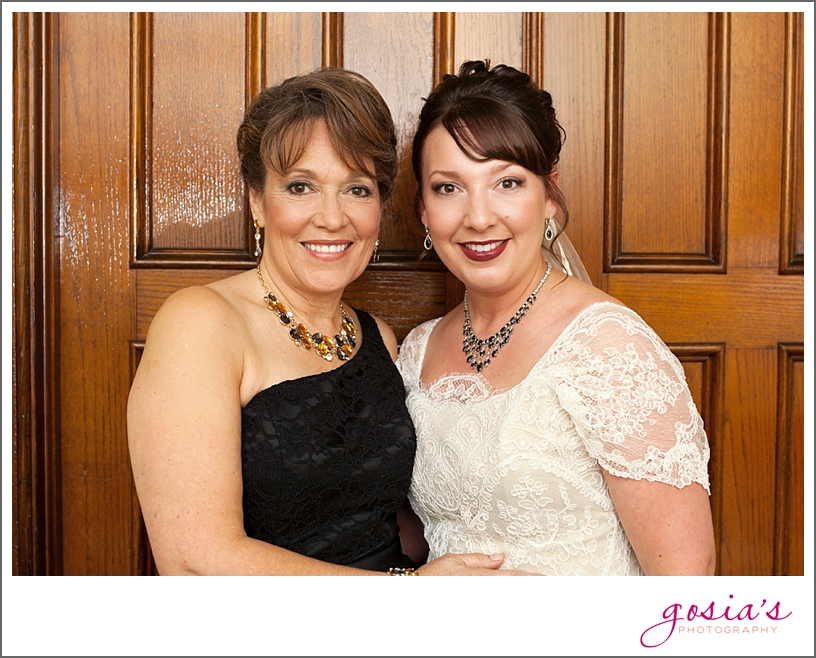 The beautiful bride with her beautiful mom.