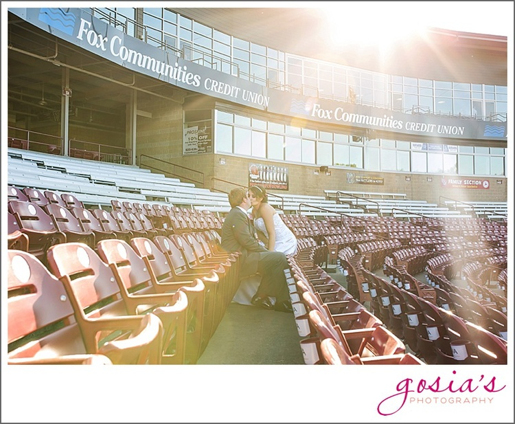 Wisconsin Timber Rattlers Banquet Venue Wedding Photographer