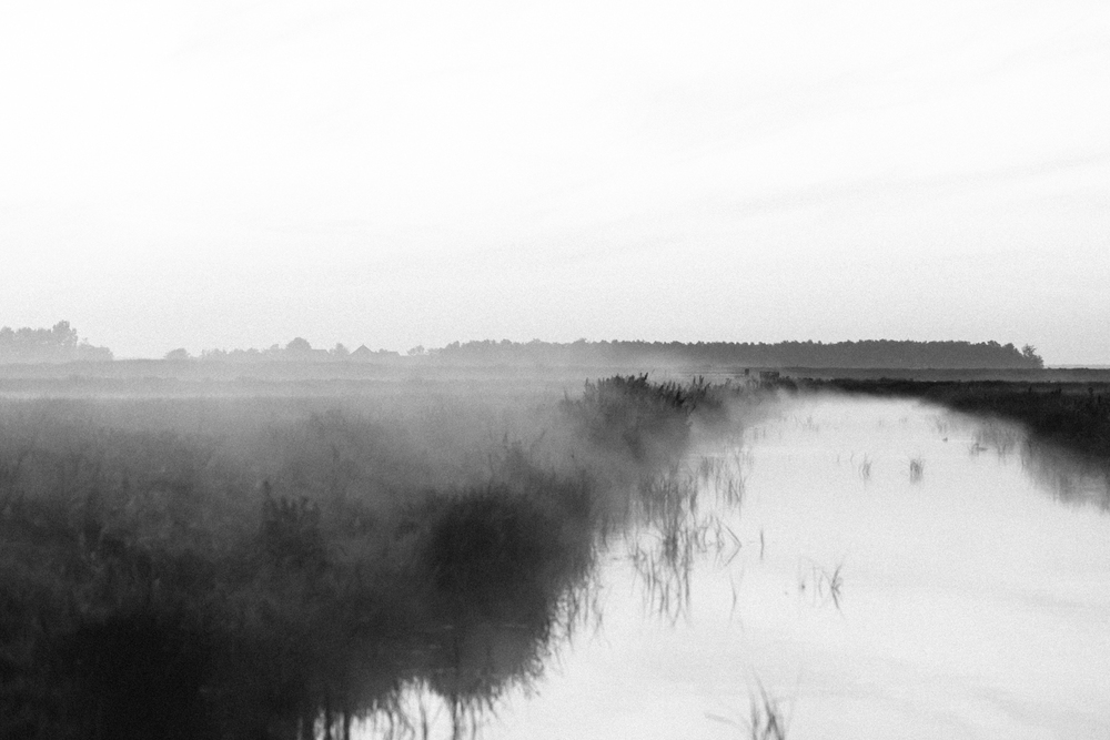 Summer Mist Broek in Waterland by on a hazy morning