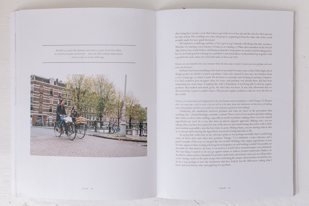 Hearth Magazine Volume 4 on a hazy morning Abel Organics Amsterd