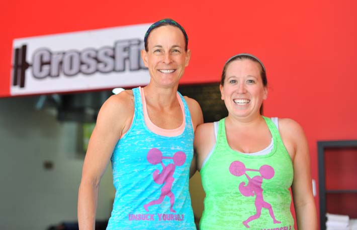 Jenni and I pre-Murph. The last time I smiled until it was over.
