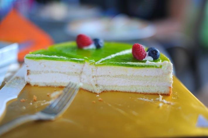 Guava chiffon cake from the Shilla Bakery