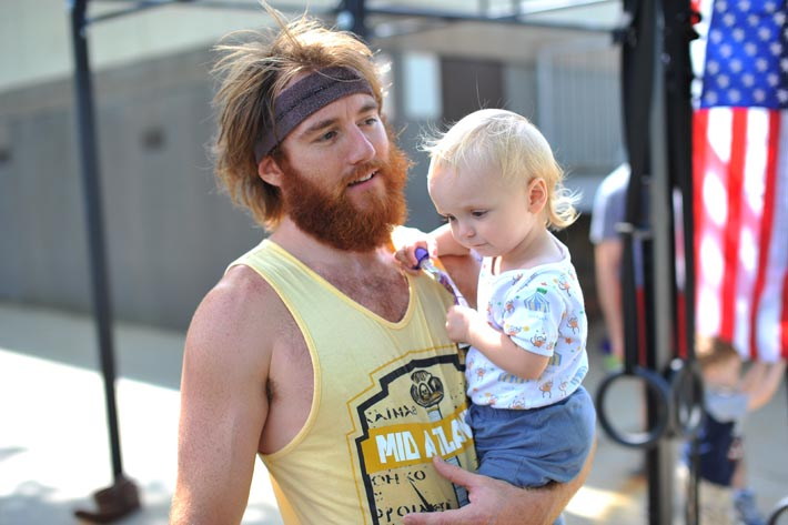 Coach Steve and his less hirsute and seriously adorable clone.