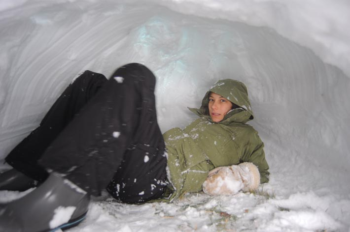 "we are putting ""snow cave designer"" on her college applications"