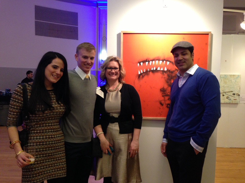 Kara, Mike, with Wendy and Eric, the new owners of BUZZING.