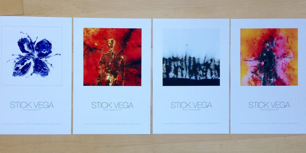 Stick Vega posters created by the staff at Food Concepts Inc. Proceeds were donated to MOM.