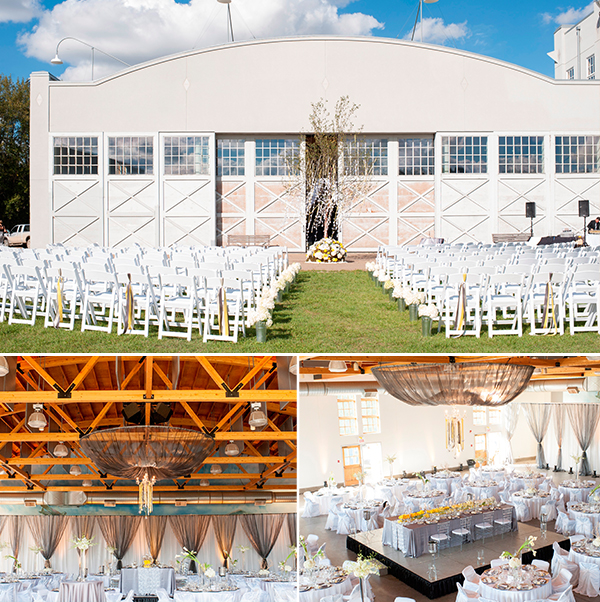 Blatchford Hangar wedding photos by Brianna Hughes via Jennifer Bergman Weddings.