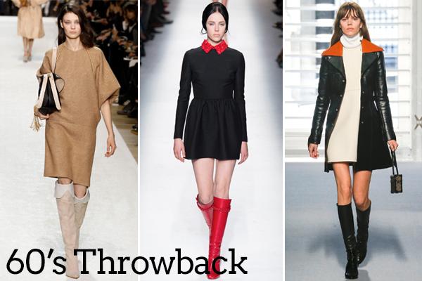 Left to right: Chloe, Valentino, Louis Vuitton via Style.com