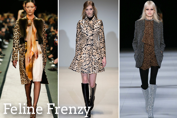 Left to right: Givenchy, Gucci, Saint Laurent via Style.com