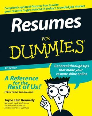 Resumes for Dummies by Joyce Lain Kennedy.jpg