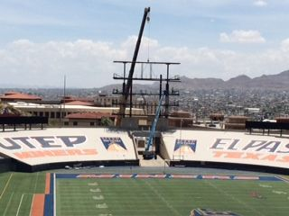New scoreboard at the Sun Bowl.