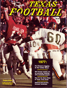 Rodney Allison on the 1977 Texas Football Cover