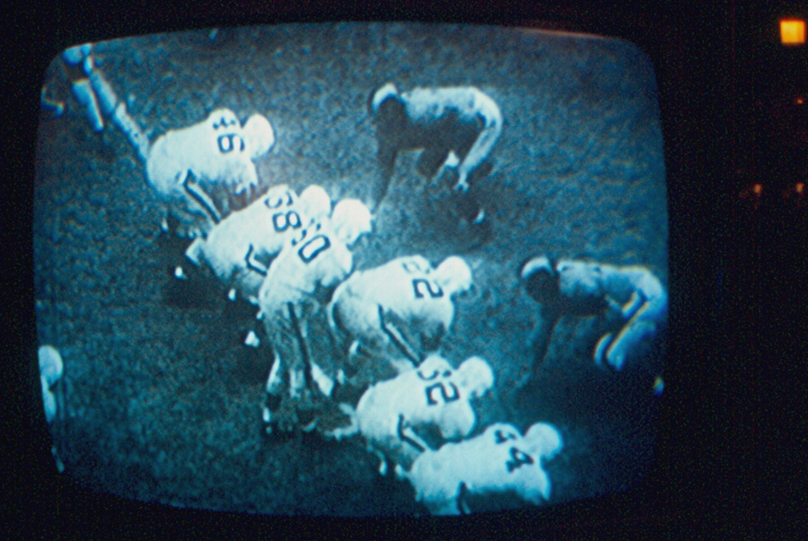 Humble #38 on Cleveland's 1950 Championship offensive line.