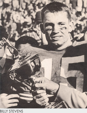 Stevens holding his 2nd Sun Bowl MVP Trophy