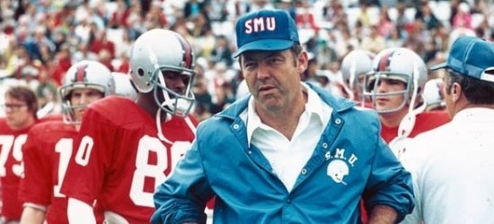 SMU Head man Dave Smith. Sweet wind breaker.
