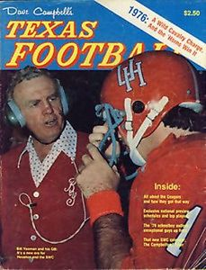 Yeoman on the Cover of Texas Football.