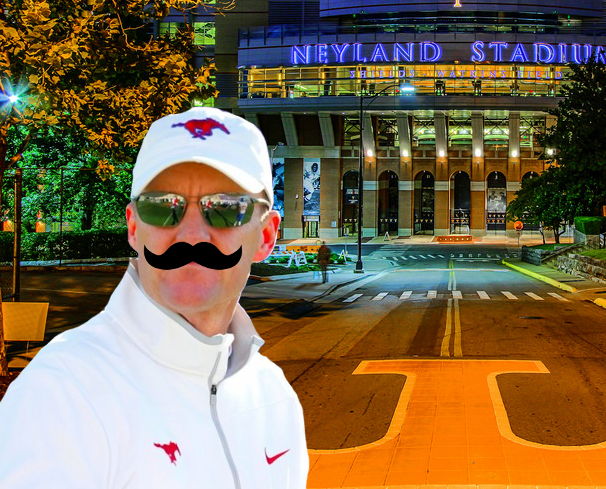 """""""Paging Mr. Norris, Mr. Chad Norris to the Tennessee Athletic Director's office."""""""