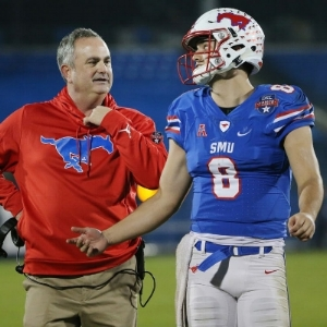 Sonny Dykes and Ben Hicks  Andy Jacobsohn/DMN Staff Photographer