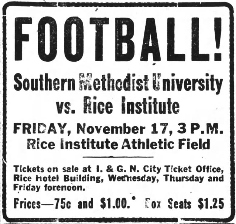 Rice SMU 1916.jpg