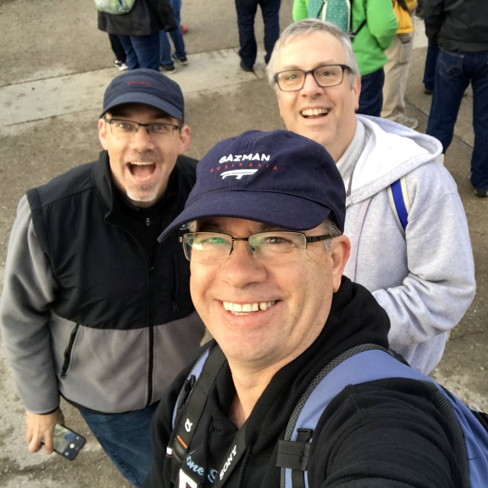 Three Wizards @ Albuquerque Balloon Fiesta   L to R: Paul Boomer, Craig Arthur (me), Dave Young