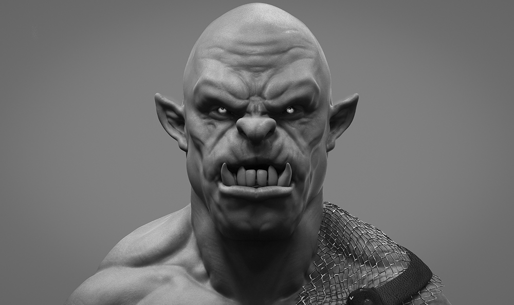 Orc-off: Rendered in Keyshot and composited in Photsho