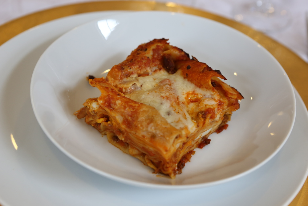 Lasagna with Basciamelle and Bolognese Sauce.