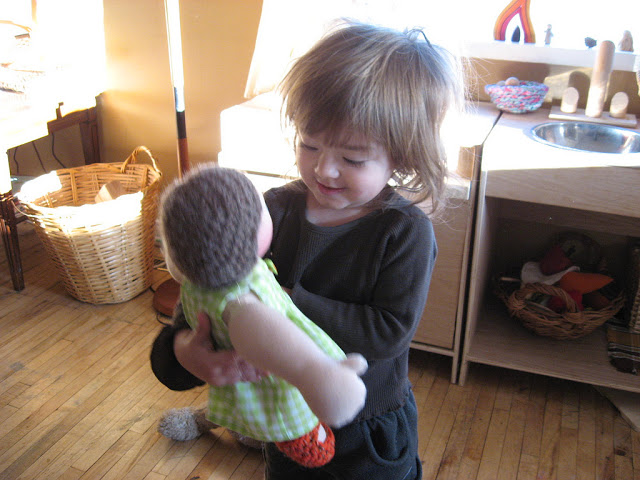 Playing with dolls encourages empathy and fosters caring in our children, by Fig and me.