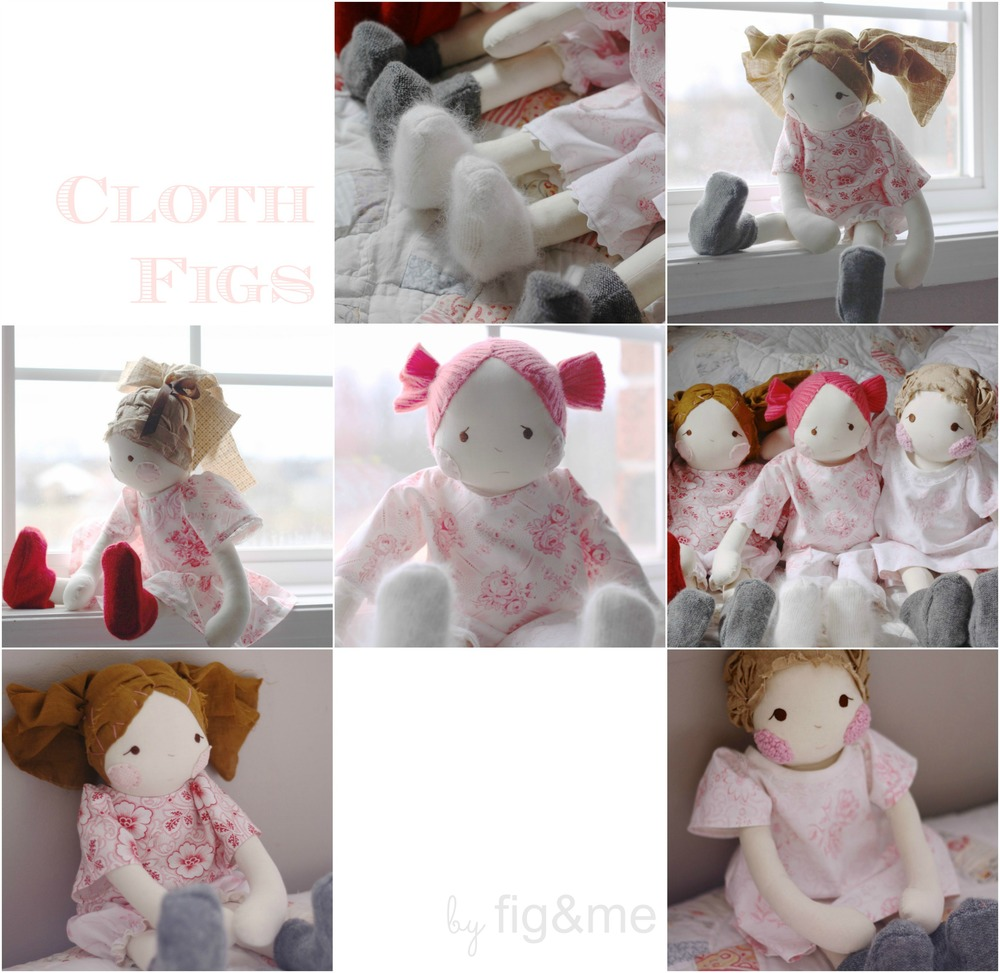 Handmade cloth doll, natural.