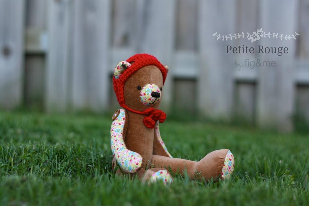 vintage velveteen bear