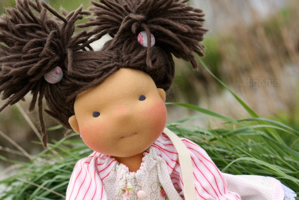 Handmade figlette doll, by figandme.