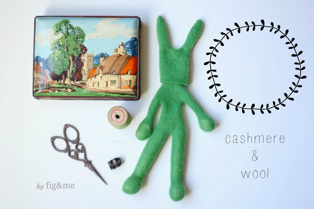 cashmere and wool bunny by fig&me