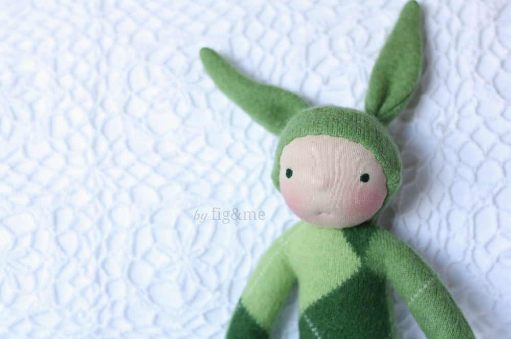 Little and soft bunny doll by Fig and Me.