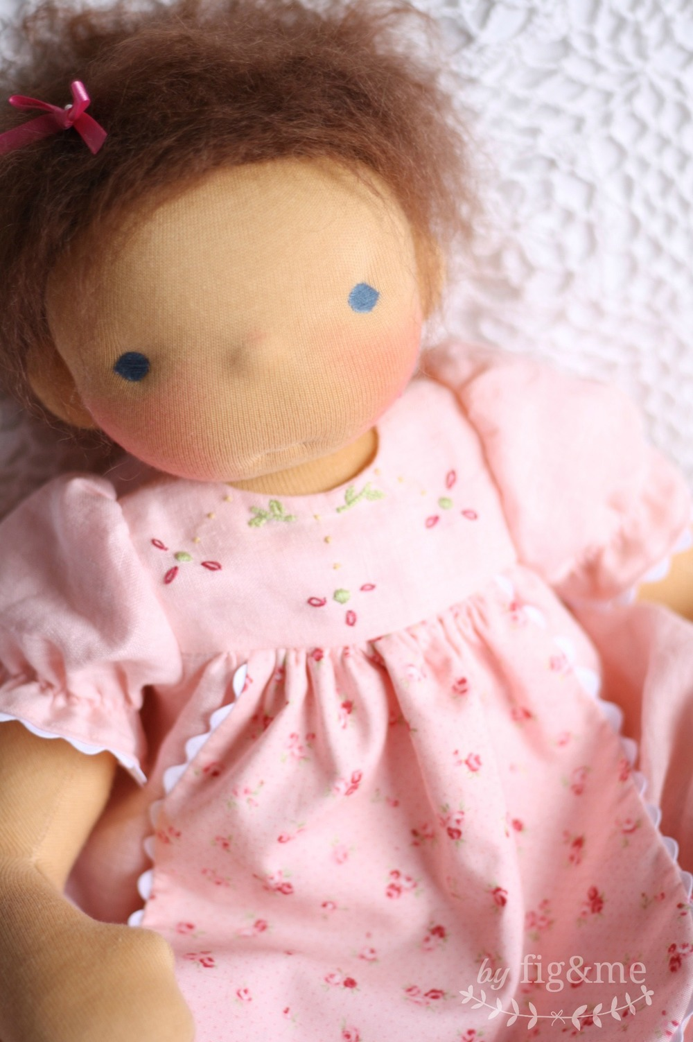 Mindy Lou, a natural handmade doll, by Fig and Me.