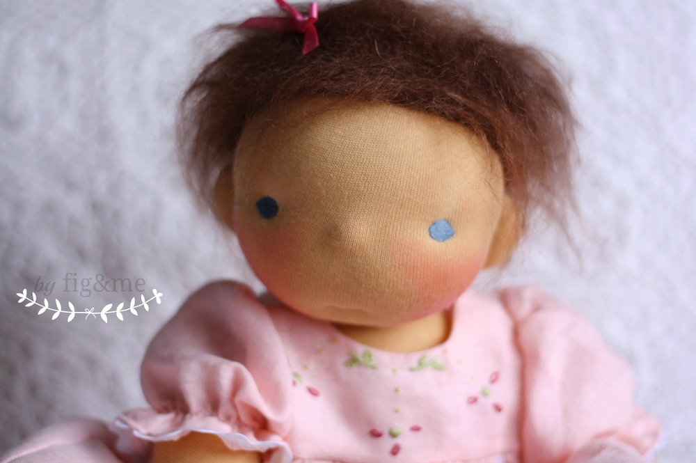 Natural weighted baby doll, by Fig and Me.