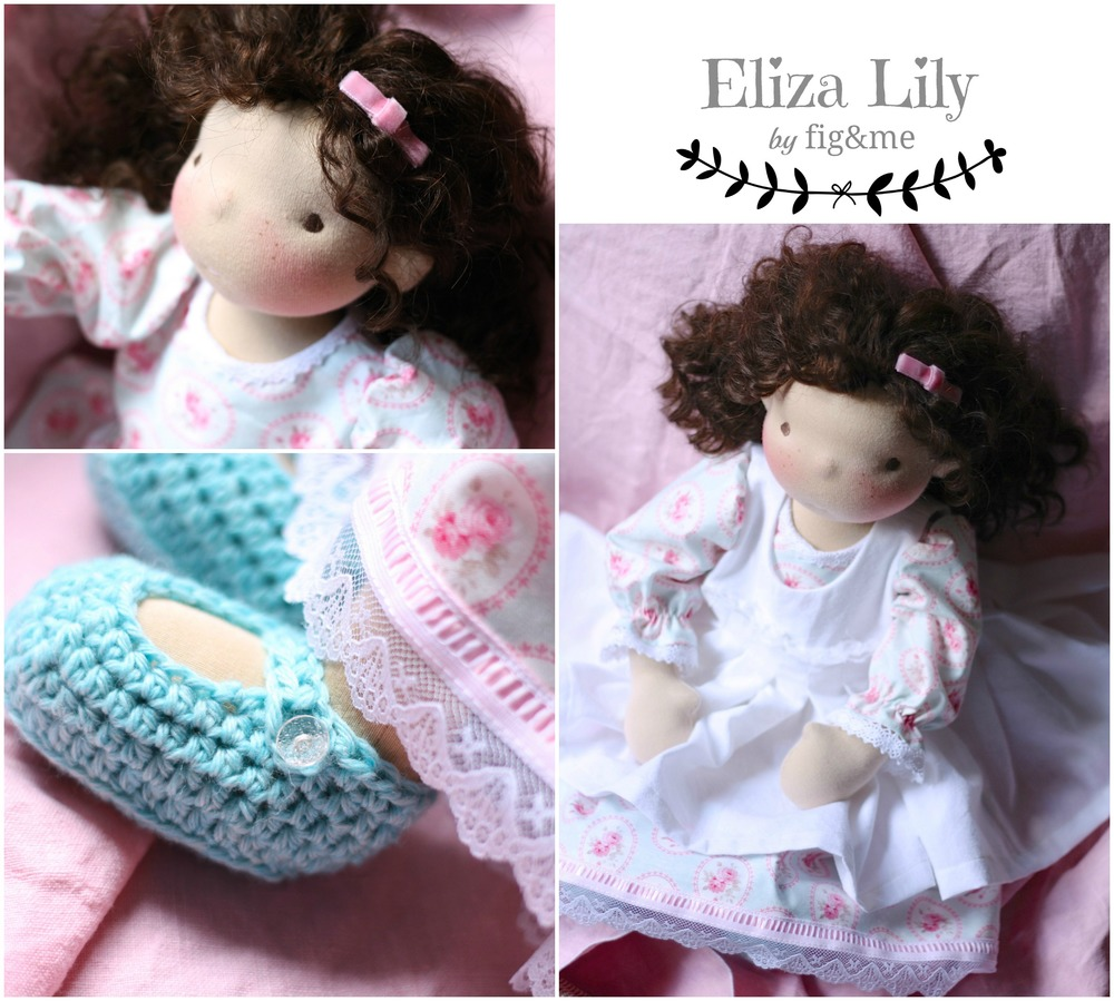 Natural handmade doll by Fig and me.