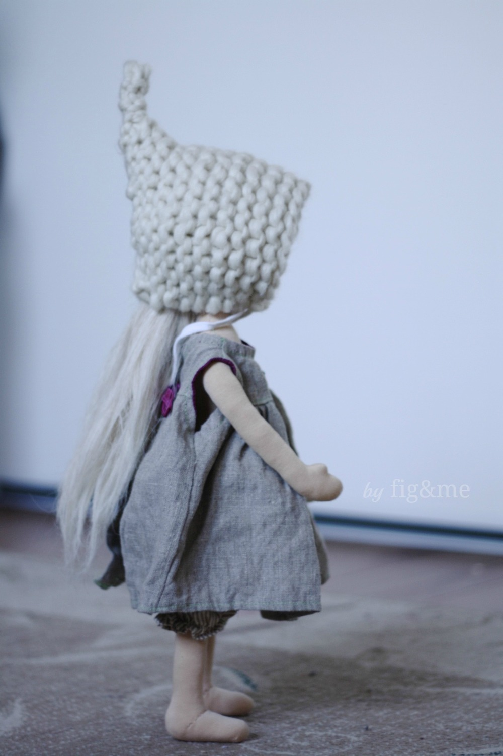 Cygnet, a handmade natural doll. By Fig and me.