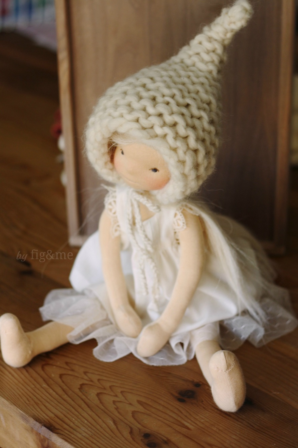 Handmade natural art doll by Fig and me.