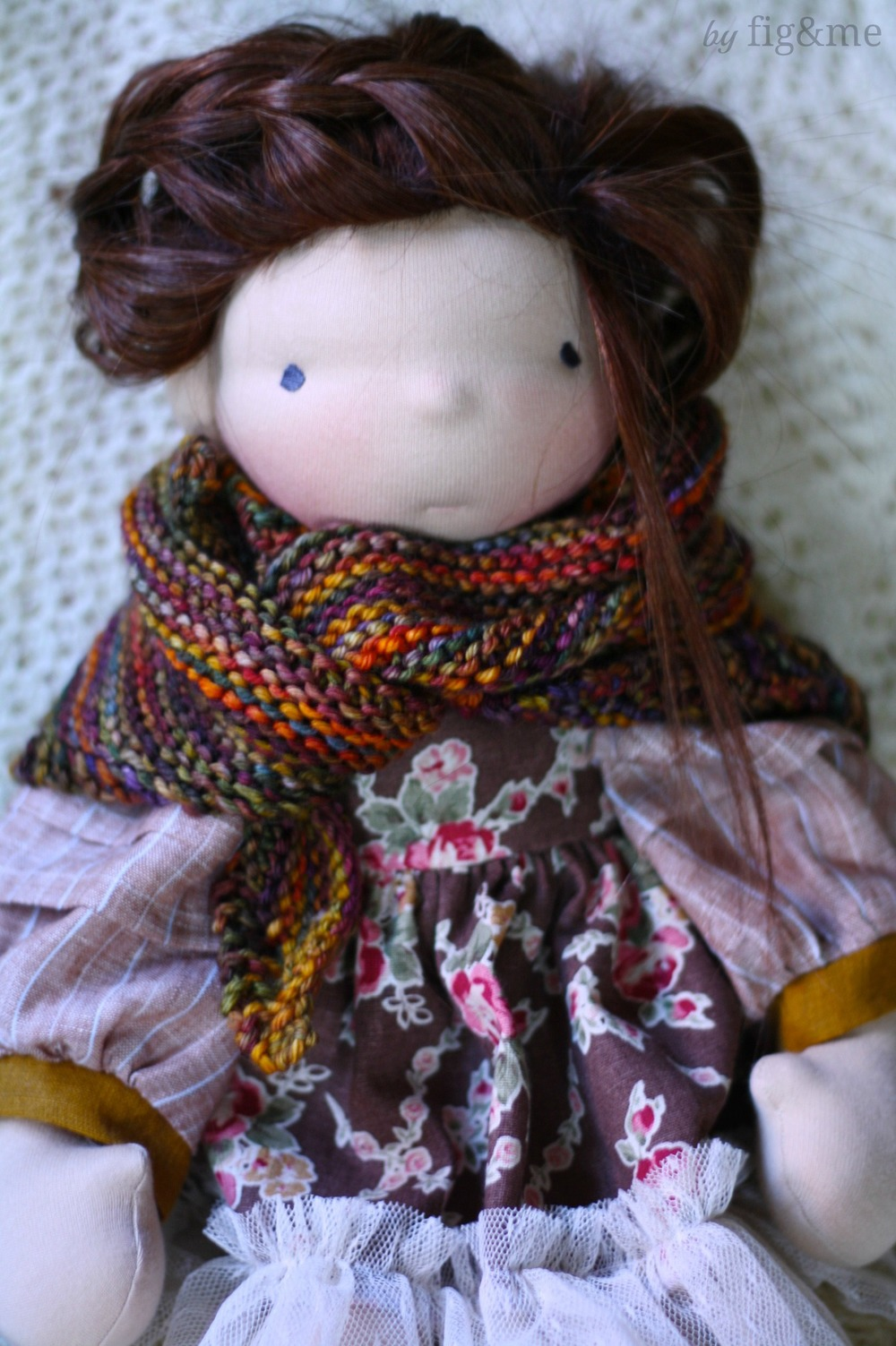 Tina, a handmade natural doll by Fig & me.