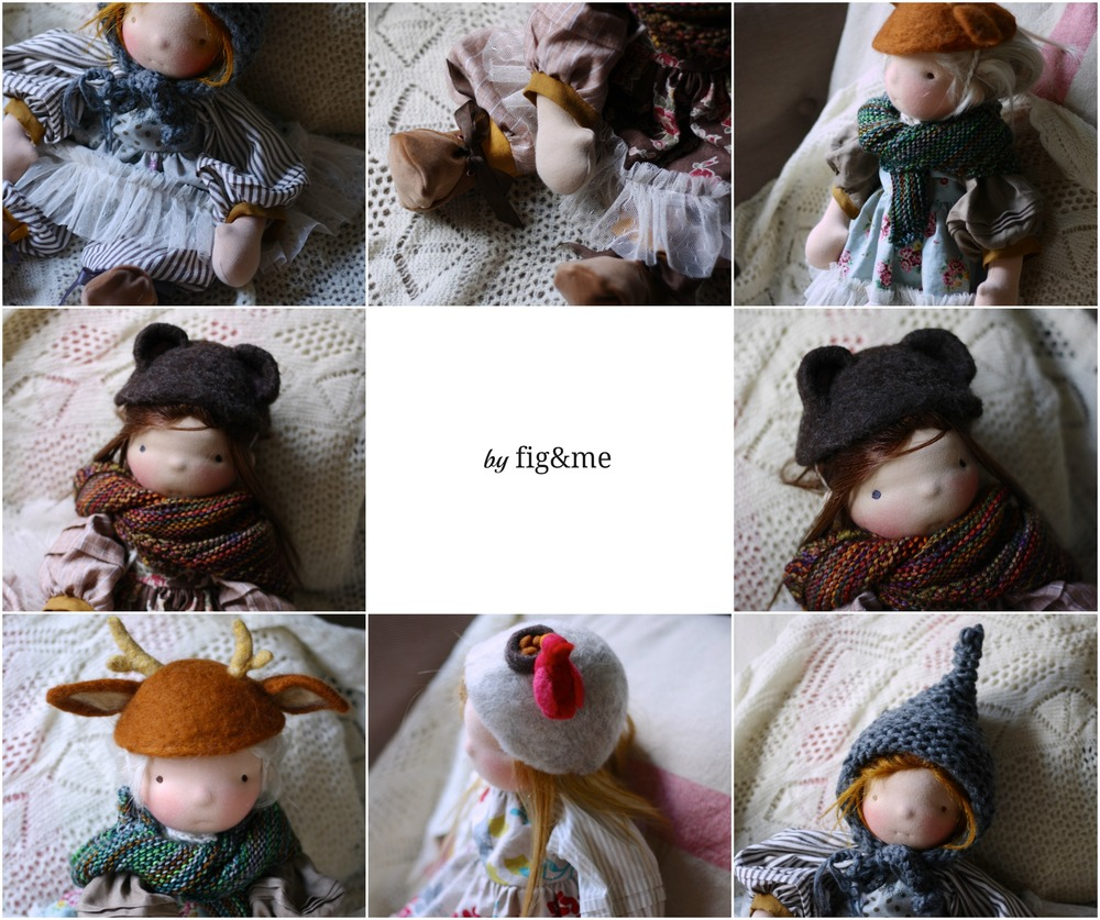 Handmade natural dolls by Fig & me.