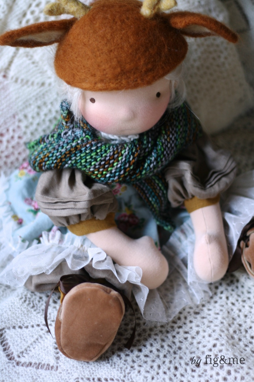 Tilly, a handmade natural doll by Fig and me.