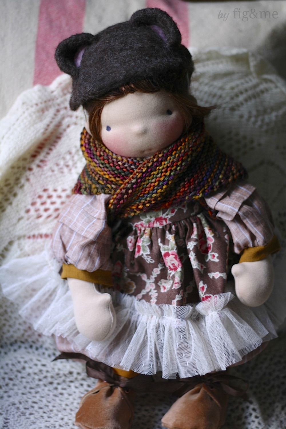 Tina, a handmade natural doll by Fig and me.