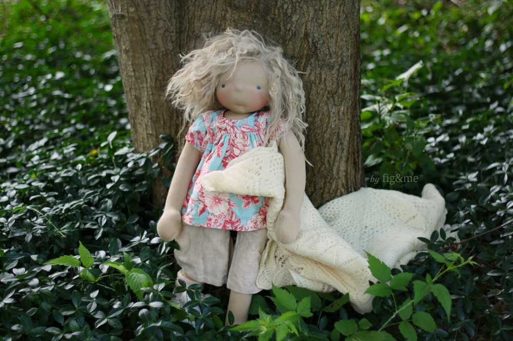 Amelie, a natural handmade doll by Fig&me.