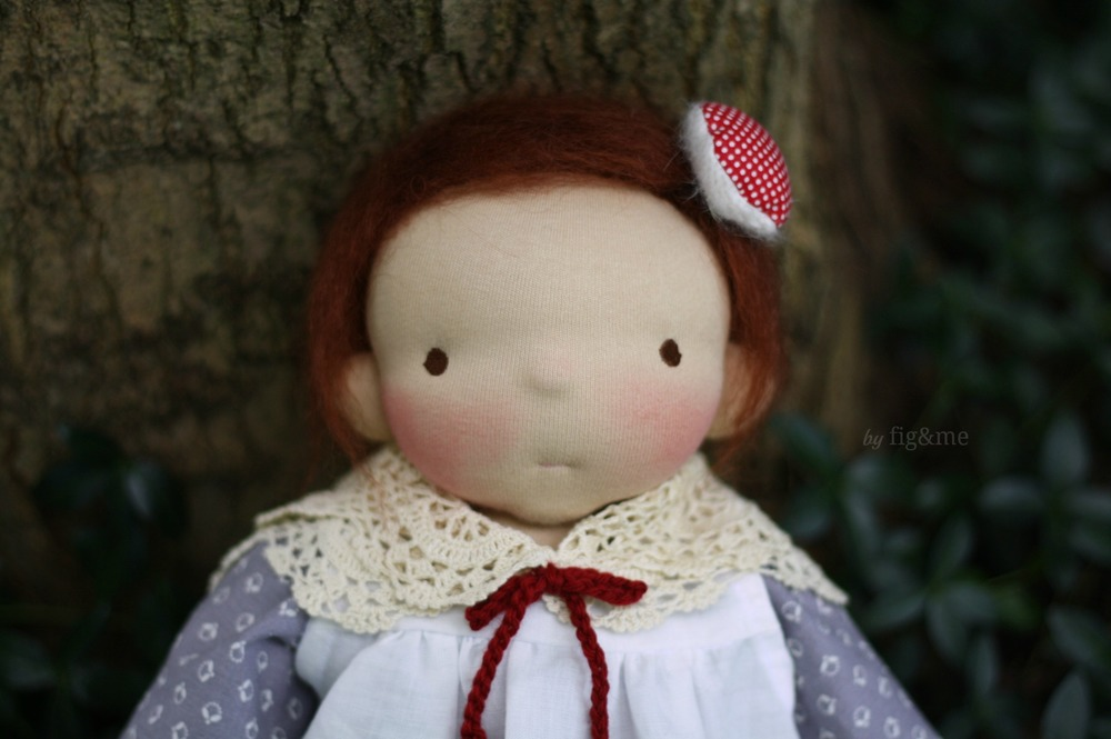 Lucy Maude, a handmade all natural doll by Fig and me.