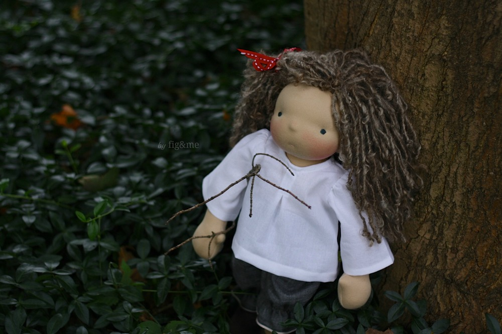 Satya, a handmade natural doll by Fig and me.