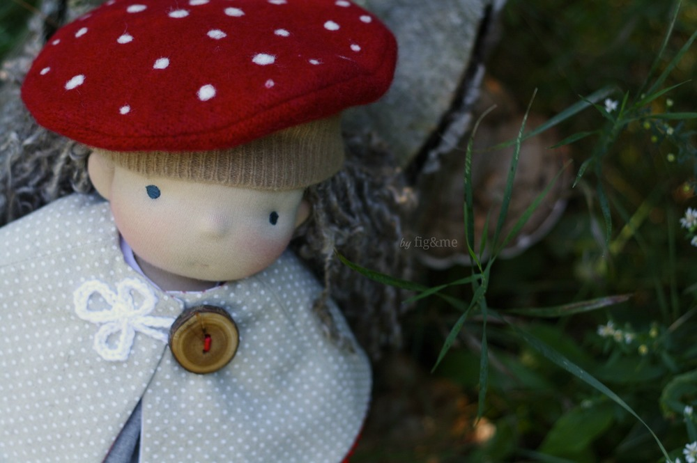 Handmade all natural doll, by Fig and me.