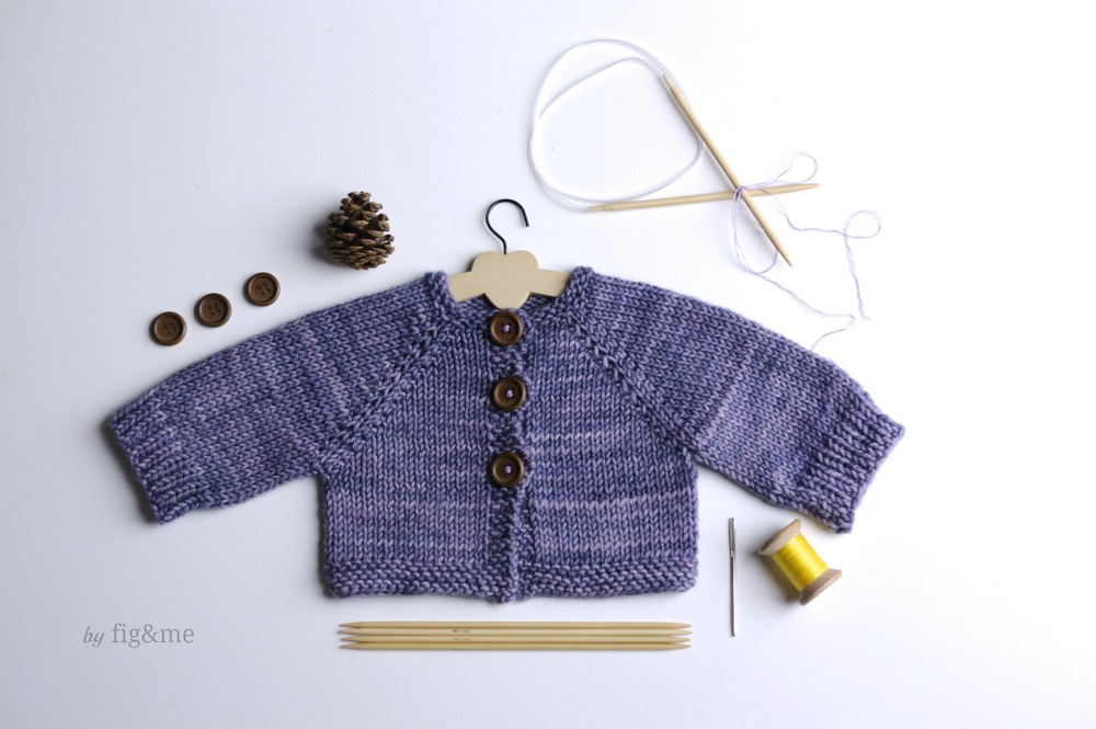 Plum puddin' knitting pattern by Fig and me.
